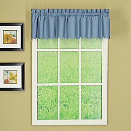 Today's Curtain Orleans Scalloped Window Valance in Blue