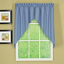 Today's Curtain Orleans Scalloped 2-Pack Window Curtain Swags in Blue