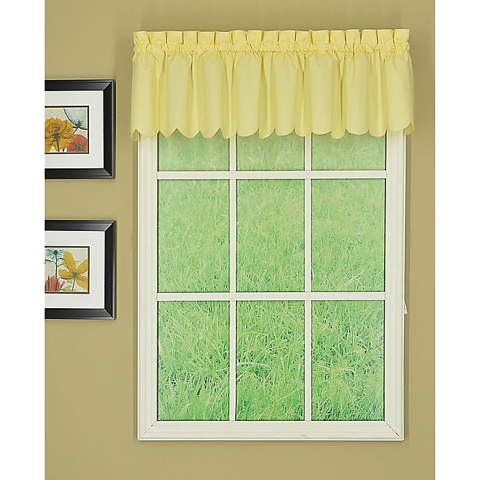 Alternate image 1 for Today's Curtain Orleans Scalloped Window Valance