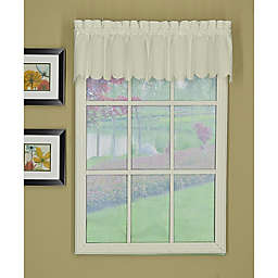 Today's Curtain Orleans Scalloped Window Valance in Ecru