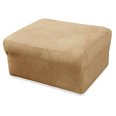 Sure Fit® Stretch Suede Ottoman Cover