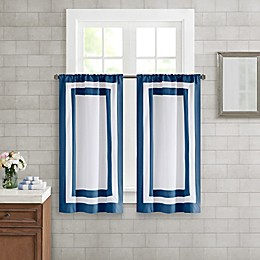 Wamsutta® Hotel Border 45-Inch Bath Window Curtain Tier Pair