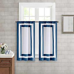 Wamsutta® Hotel Border 45-Inch Bath Window Curtain Tier Pair