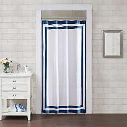 Wamsutta® Hotel Border 54-Inch x 78-Inch Shower Curtain in Navy