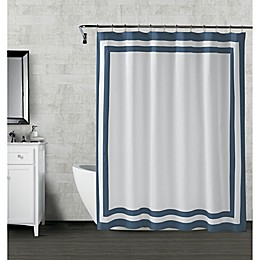 Wamsutta® Hotel Border Shower Curtain in Navy