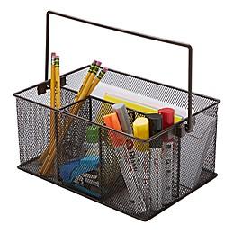 Mind Reader Mesh Desk Organizer Basket/Utensil Caddy