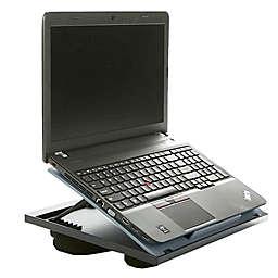 Mind Reader 8-Position Lap Top Desk in Grey