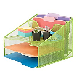 Mind Reader 5 Compartment Desktop Document and Letter Tray
