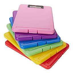 Mind Reader 6-Pack Multicolor Clipboard with Storage