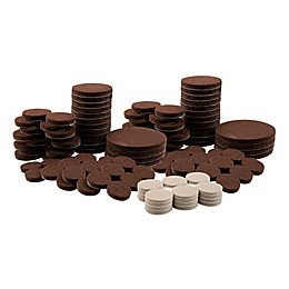 Waxman® 136-Piece Mixed Felt Pads Value Pack in Brown/Oatmeal