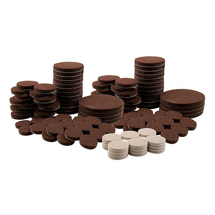 Alternate image 1 for Waxman® 136-Piece Mixed Felt Pads Value Pack in Brown/Oatmeal