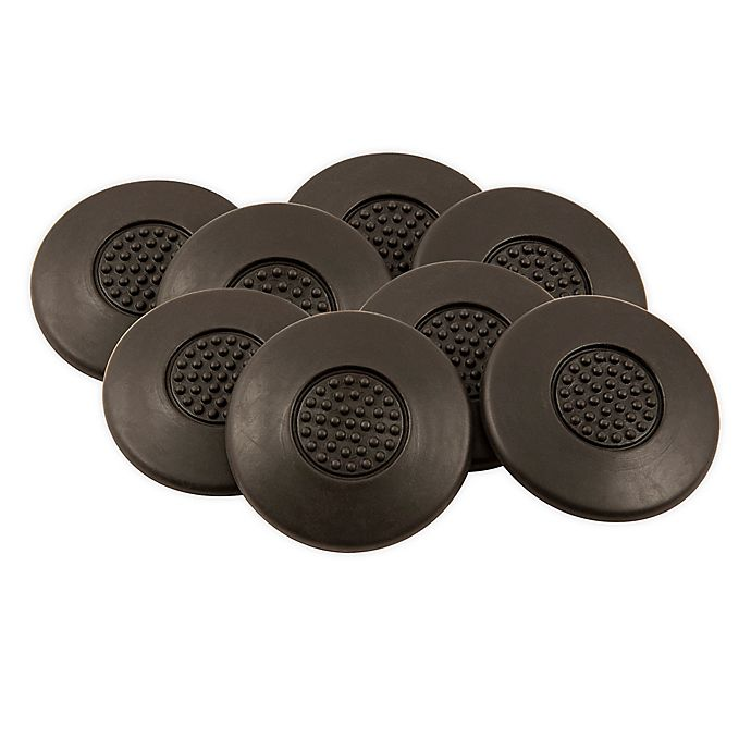 Alternate image 1 for Waxman® 8-Pack 1.5-Inch Furniture Grippers in Black