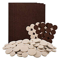Waxman® 182-Count Felt Pads in Brown/Oatmeal