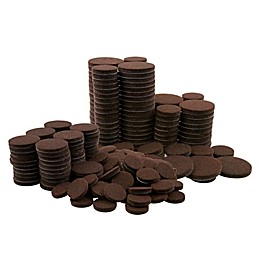 Waxman® 256-Count Round Felt Pads in Brown