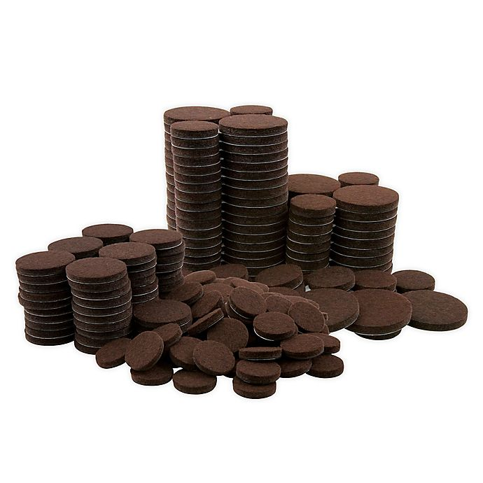 Alternate image 1 for Waxman® 256-Count Round Felt Pads in Brown