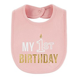 "carter's® ""My 1st Birthday"" Bib in Pink"