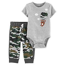 carter's® 2-Piece Koala Bodysuit and Pant Set in Camo