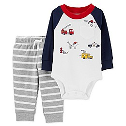 carter's® 2-Piece Rescue Cars Bodysuit and Pant Set