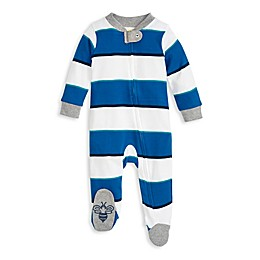 Burt's Bees Baby® Tipped Rugby Stripe Organic Cotton Sleep & Play Pajamas
