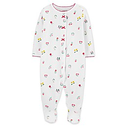 carter's® White Flowers Pointelle Footie