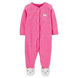carter's® Snap-Front Unicorn Sleep & Play Footie in Pink