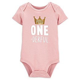 carter's® 1st Birthday Collectible Bodysuit in Pink