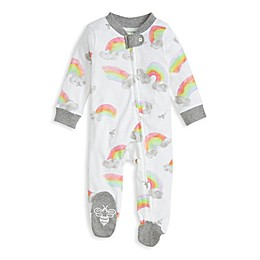 Burt's Bees Baby® Rainbow Organic Cotton Footie in Heather Grey
