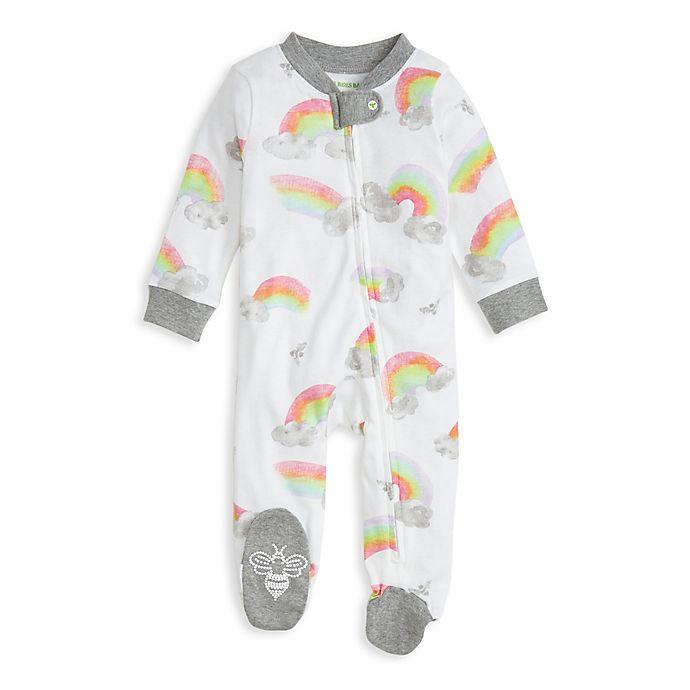 Alternate image 1 for Burt's Bees Baby® Rainbow Organic Cotton Footie in Heather Grey