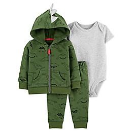 carter's® 3-Piece Dinosaur Little Jacket Set in Green