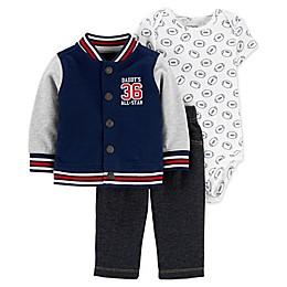 carter's® 3-Piece Varsity Little Jacket Set in Navy