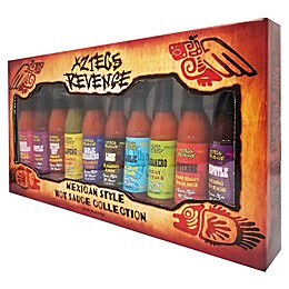Aztecs Revenge 10-Piece Mexican Style Hot Sauce Gift Set
