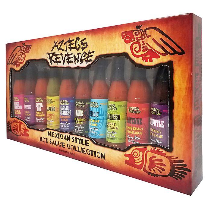 Alternate image 1 for Aztecs Revenge 10-Piece Mexican Style Hot Sauce Gift Set