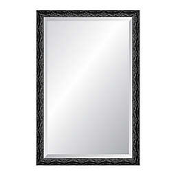 Reveal Frame & Décor Ancestral Silver 27-Inch x 33-Inch Wall Mirror in Black