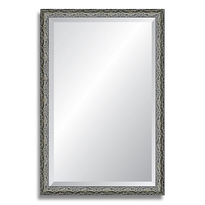 Alternate image 1 for Reveal Frame & Décor Ancestral Pewter 18-Inch x 27-Inch Beveled Wall Mirror