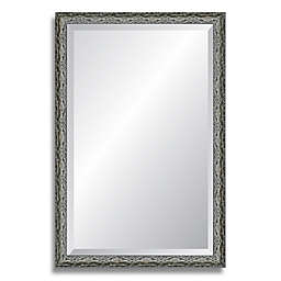 Reveal Frame & Décor Ancestral Pewter 18-Inch x 27-Inch Beveled Wall Mirror