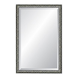 Reveal Frame & Décor Ancestral Pewter 24-Inch x 37-Inch Beveled Wall Mirror