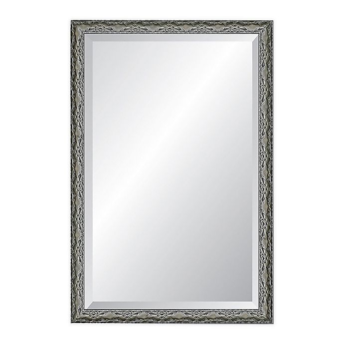 Alternate image 1 for Reveal Frame & Décor Ancestral Pewter 24-Inch x 37-Inch Beveled Wall Mirror