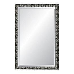 Reveal Frame & Décor Ancestral Pewter 24-Inch x 39-Inch Beveled Wall Mirror