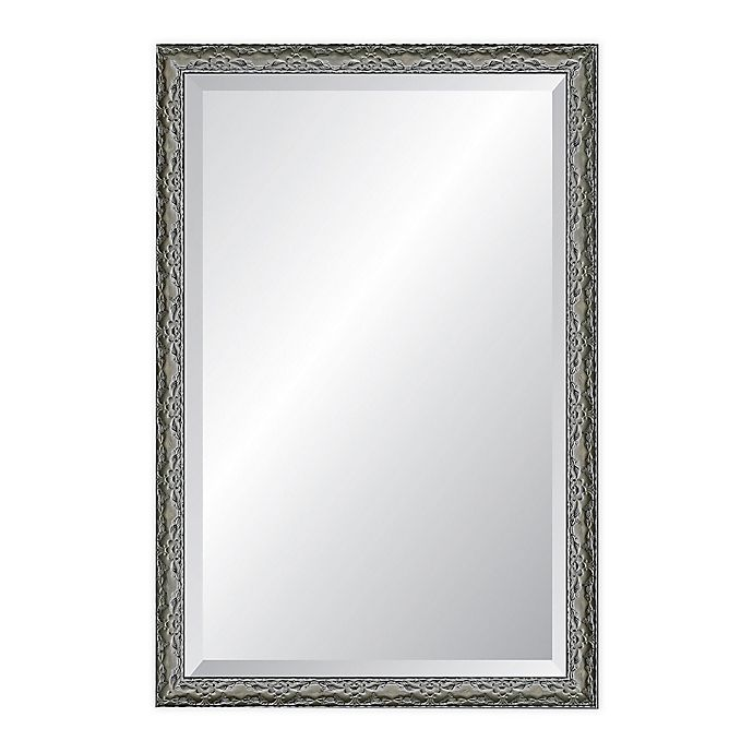 Alternate image 1 for Reveal Frame & Décor Ancestral Pewter 24-Inch x 39-Inch Beveled Wall Mirror