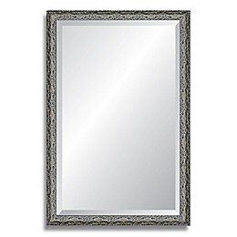 Reveal Frame & Décor Ancestral Pewter 27-Inch x 33-Inch Beveled Wall Mirror