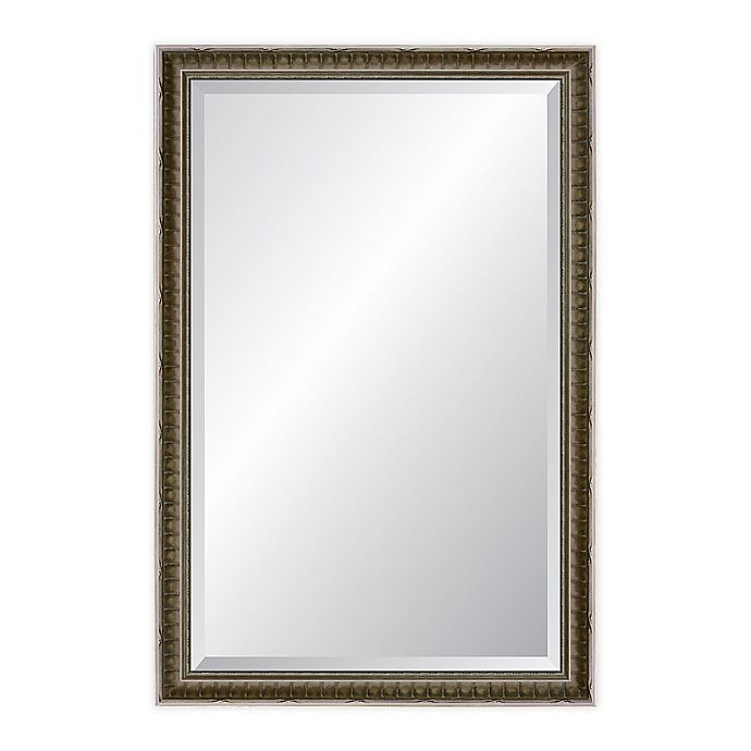 Alternate image 1 for Reveal Frame & Decor Newbury 24.5-Inch x 37.5-Inch Wall Mirror in Antiqued Silver