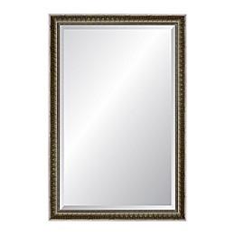 Newbury 24.5-Inch x 39.5-Inch Rectangular Wall Mirror in Antiqued Silver