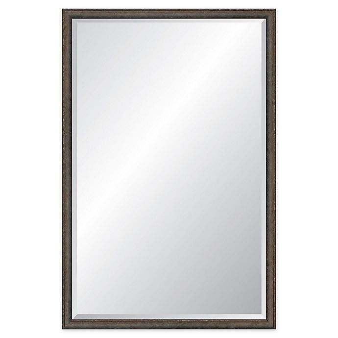 Alternate image 1 for Reveal Frame & Decor Foundry Steel Rectangle Beveled Wall Mirror