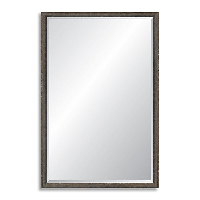 Alternate image 1 for Reveal Frame & Decor Foundry Steel 22.75-Inch x 35.75-Inch Rectangle Beveled Wall Mirror
