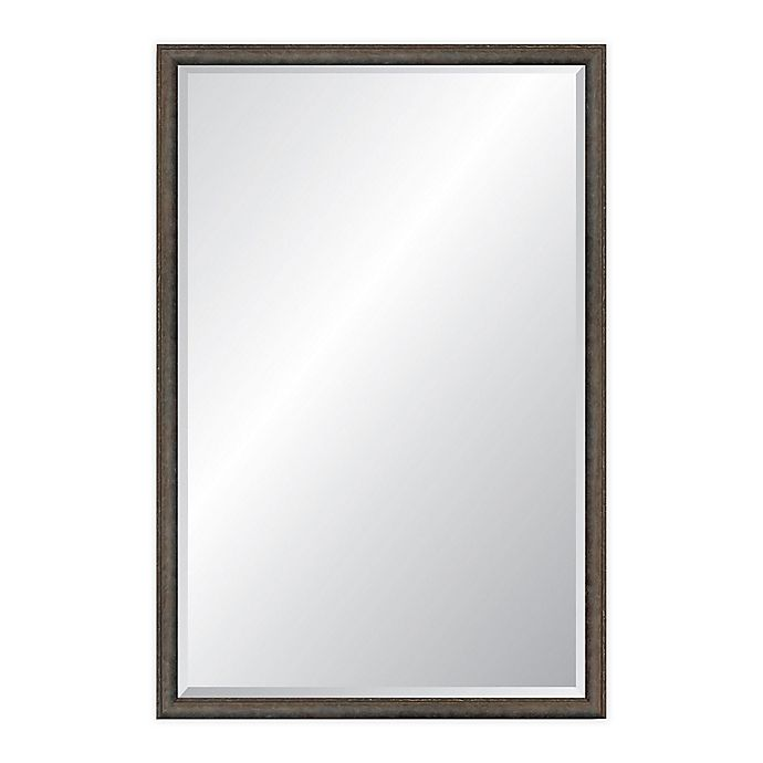 Alternate image 1 for Reveal Frame & Decor Foundry Steel 22.75-Inch x 37.75-Inch Rectangle Beveled Wall Mirror