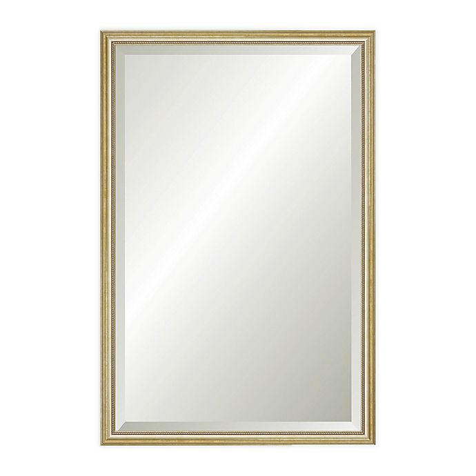 Alternate image 1 for Reveal Frame & Décor Delicate Gold Leaf 17.5-Inch x 26.5-Inch Beveled Wall Mirror
