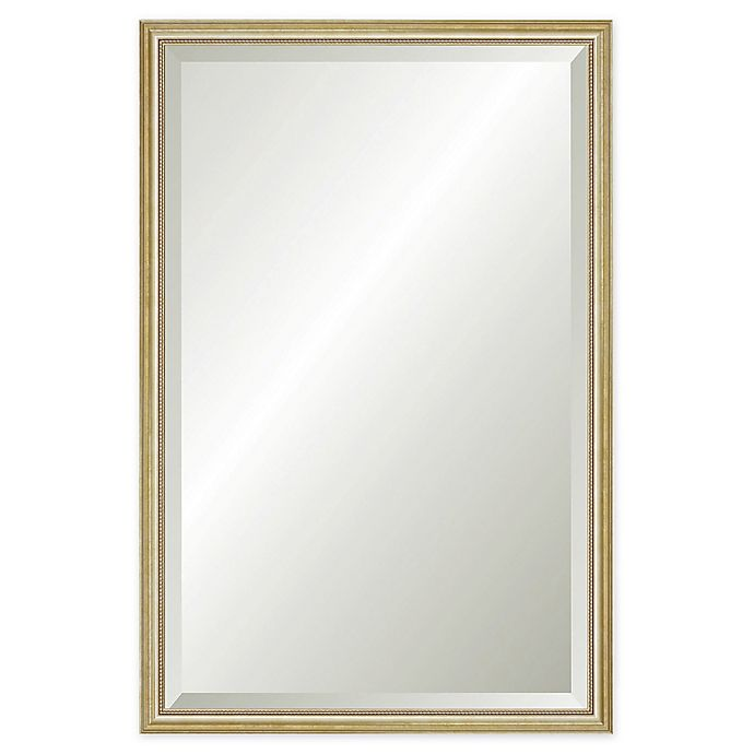 Alternate image 1 for Reveal Frame & Décor Delicate Gold Leaf 23.5-Inch x 38.5-Inch Beveled Wall Mirror