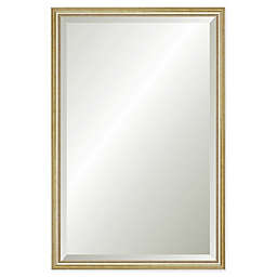 Reveal Frame & Décor Delicate Gold Leaf 23.5-Inch x 38.5-Inch Beveled Wall Mirror