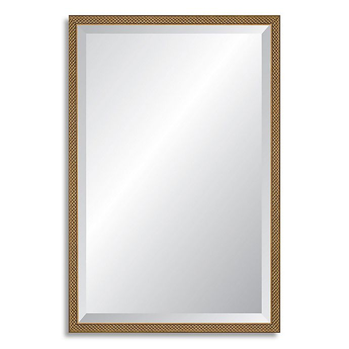 Alternate image 1 for Reveal Frame & Decor 22.75-Inch x 35.75-Inch Rectangular Venetian Gold Beveled Mirror