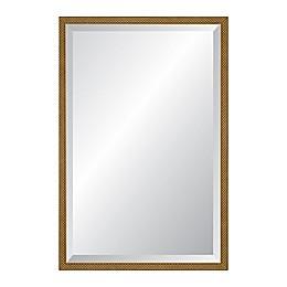 Reveal Frame & Decor 22.75-Inch x 37.75-Inch Rectangular Venetian Gold Beveled Mirror